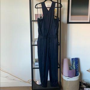 Paige Silk Navy Jumpsuit
